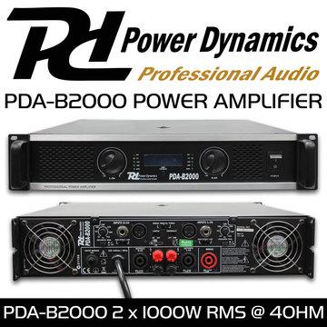 Professional PA Amplifier PDA-B2000 1000 watt RMS x 2 - Surplustronics