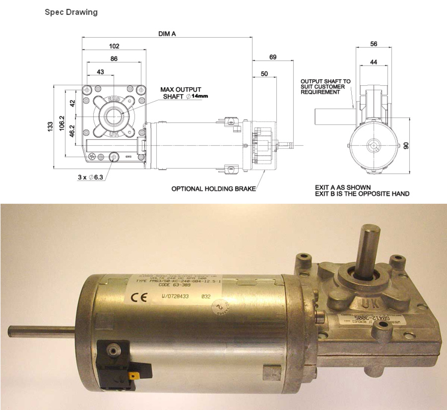 Surplustronics Geared Motor 24 To 240v Dc Large Dc